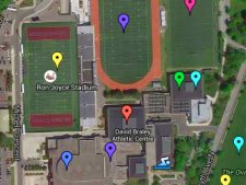 McMaster Intramural Sports Playing Locations Map